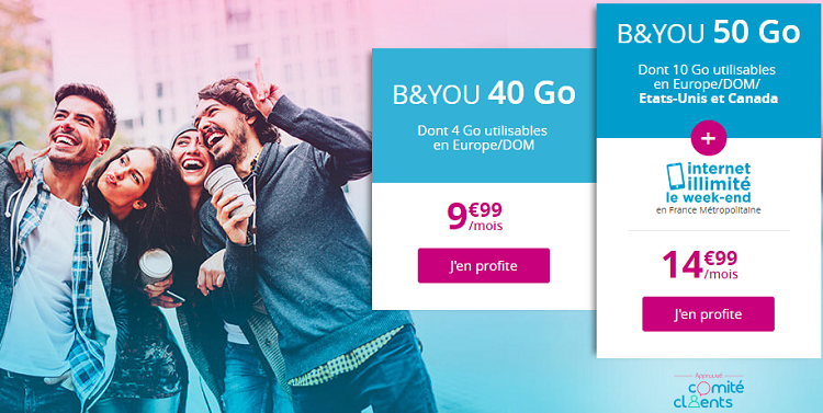 séries spéciales b&you 40go et 50go