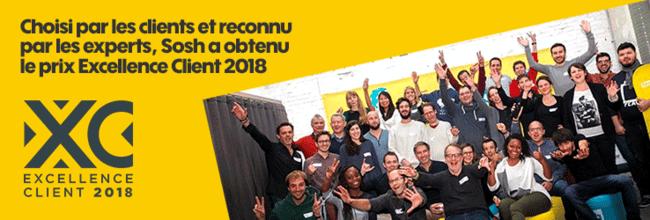 sosh obtient le prix excellence client en 2018