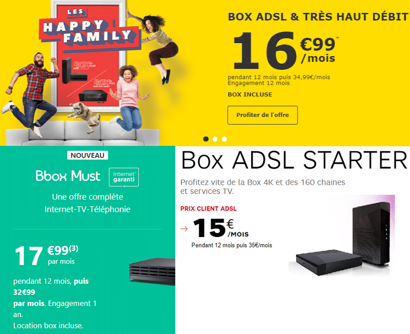 comparatif box adsl 2018