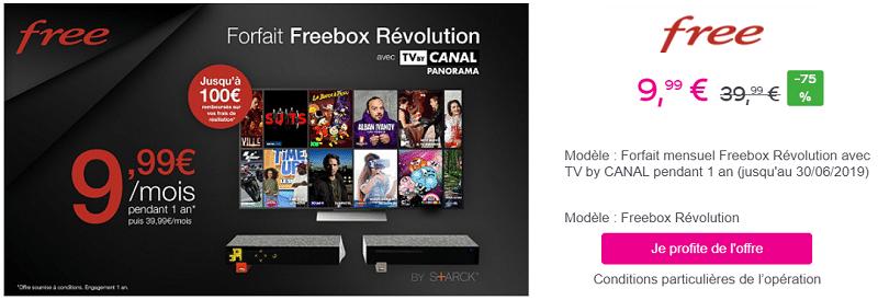 La Freebox Révolution est en promo à 9€99 sur vente privée