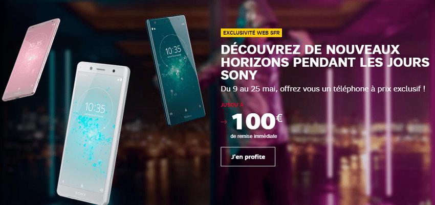Les jours Sony ont commencé sur la boutique en ligne de SFR