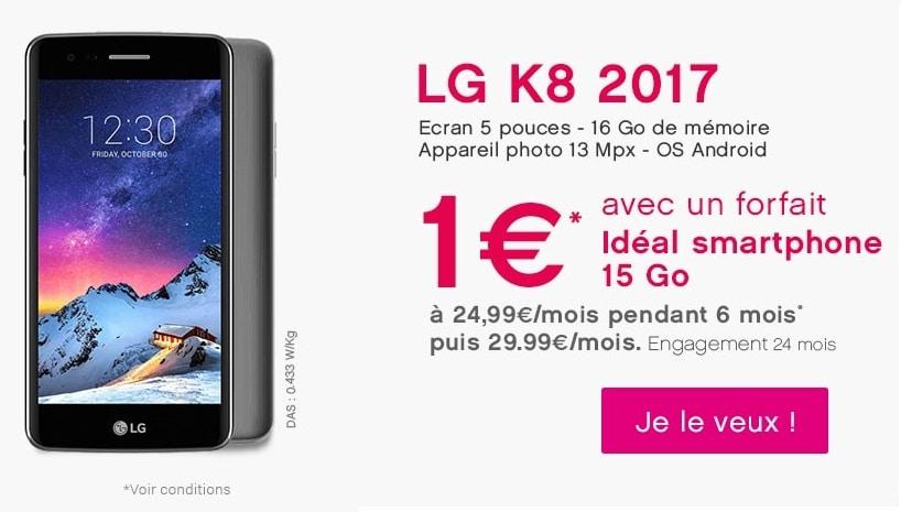 k8 de LG version 2017 en promo