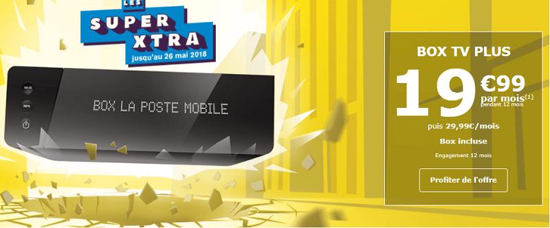 Box TV plus chez la poste mobile à 19€99 par mois