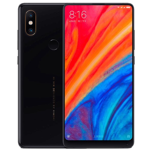 photo Mi mix 2S de dos et face