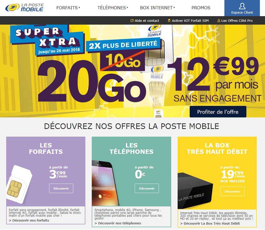 Code Promo La Poste Mobile Sur Forfait 60go Et Box Internet A 16 99