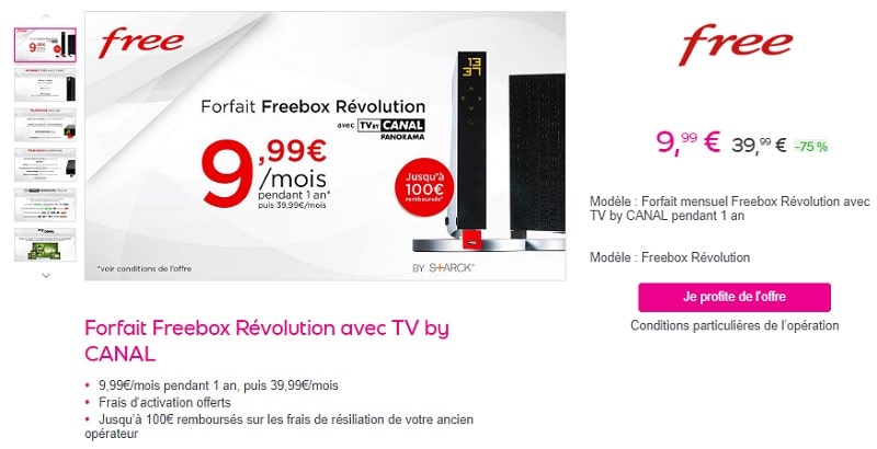 freebox révolution en promo sur vente-privee