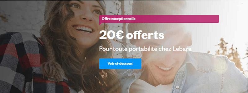 promo lebara : 20 euros offerts