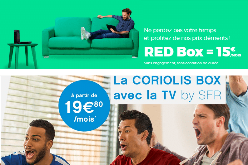 box internet sans Tv chez red by sfr et coriolis