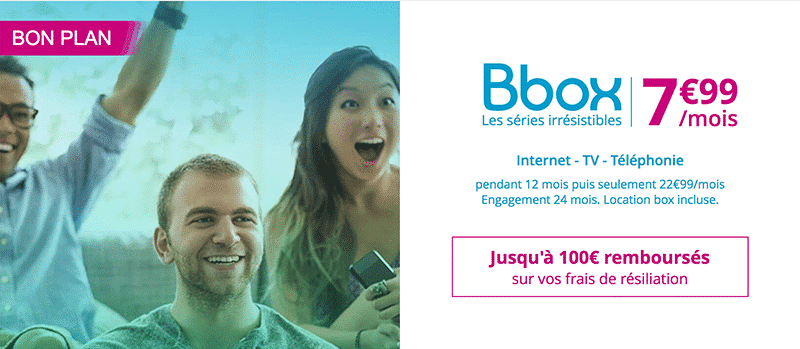 bbox irresistible en promo à 7.99 euros