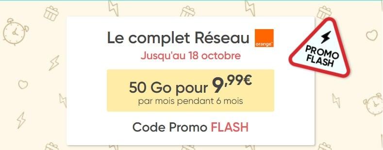 forfait sans engagement prixtel en promo à 9.99€