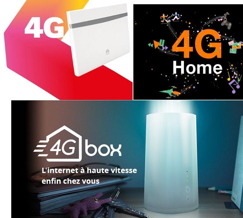 Comparatif box 4G : Caractéristiques des offres orange, sfr, free, nrj mobile et Bouygues telecom + prix