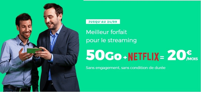 bon plan red by sfr netflix + 50 go