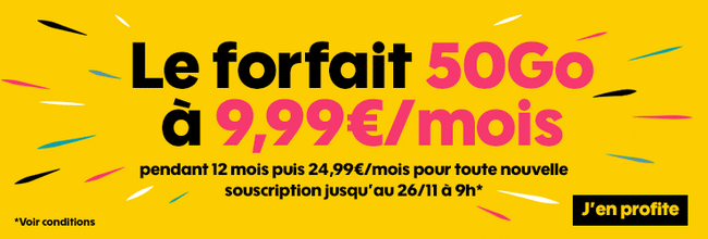 abonnement sosh 50go à 9.99 euros