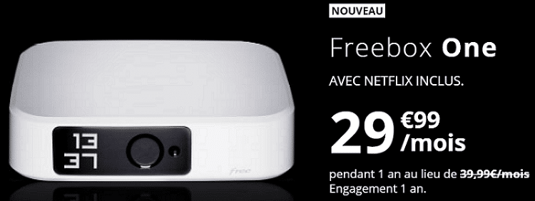 freebox one avec netflix inclus