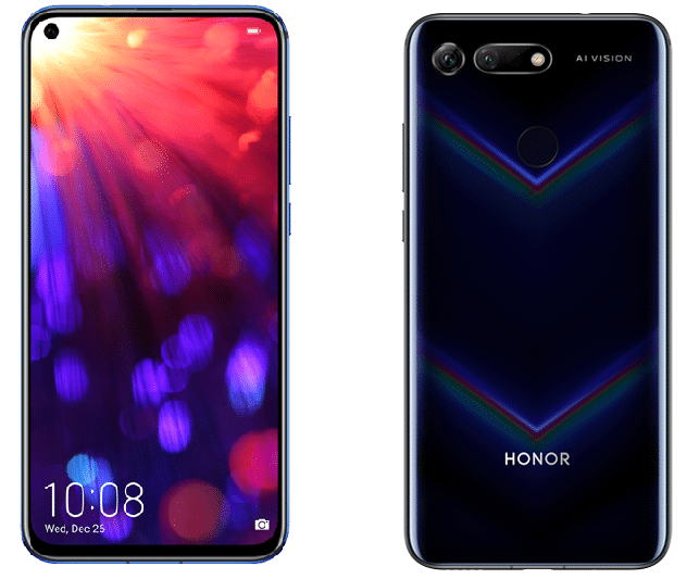 honor view 20 de dos et face