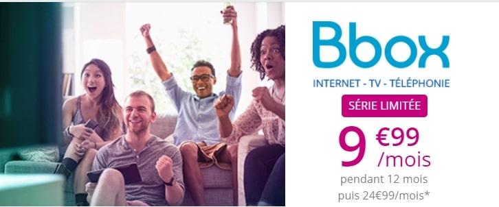 promo bbox : série spéciale irrésistible à 9.99 euros par mois