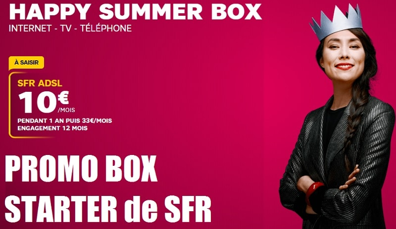 box sfr starter en promo à 10 euros par mois