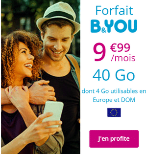 forfait b and you 40 go à 9.99 €