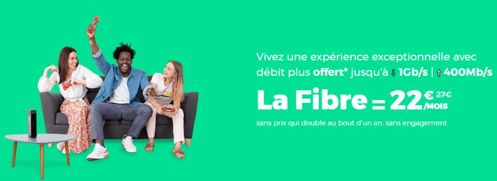 fibre red by sfr à prix promotionnel : 22 euros par mois