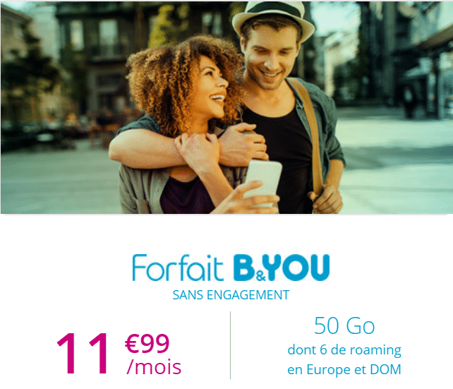 forfait sans engagement b and you 50 go à 11.99 euros par mois