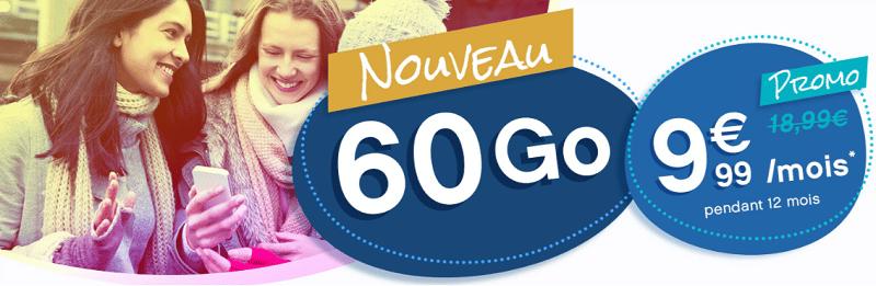 forfait coriolis 60 Go sans engagement à 9.99€ / mois