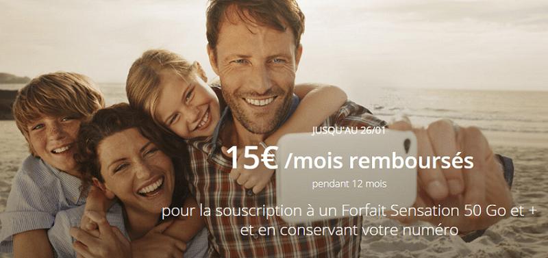 promo noel : forfait bouygues 50 Go à 29.99 euros