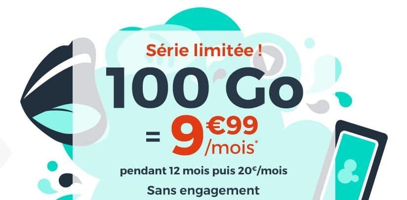 forfait cdiscount 100 go à 9.99 € / mois
