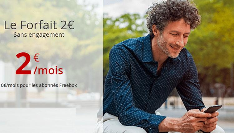 forfait free mobile 2 euros gratuit