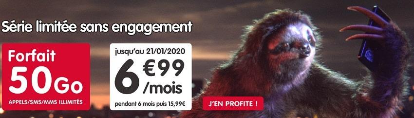 forfait nrj mobile 50 Go sans engagement à 6.99 €