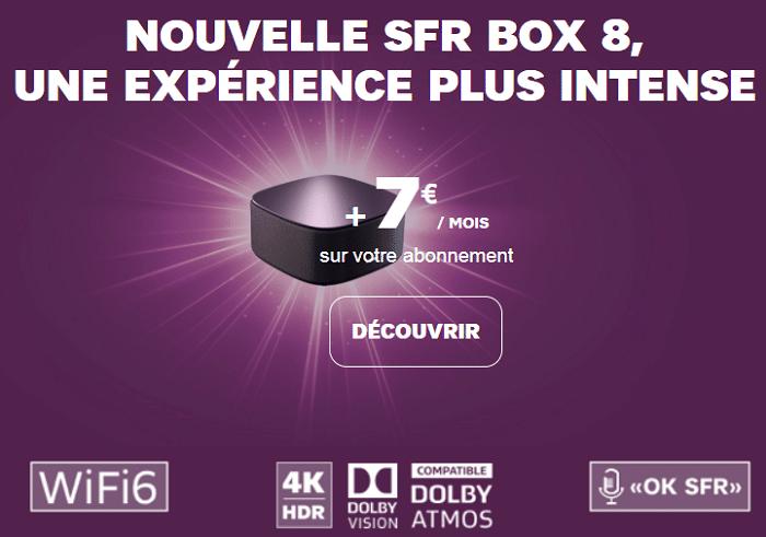 nouvelle box sfr 8 en abonnement à 7€ / mois