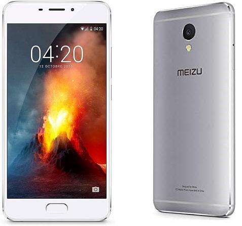 Meizu M5 note de face et dos