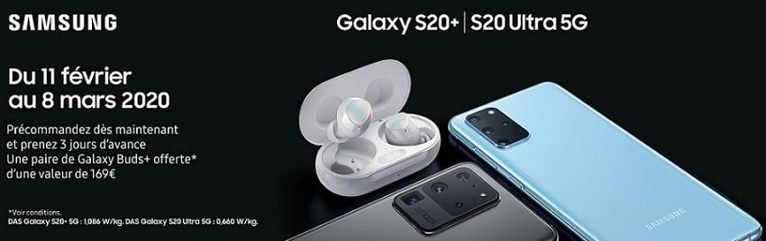 précommande samsung galaxy s20 avec forfait