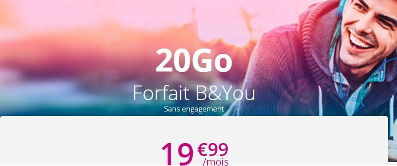 forfait b&you sans engagement moins cher