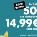 forfait sosh 50 go en promo à 14.99 €