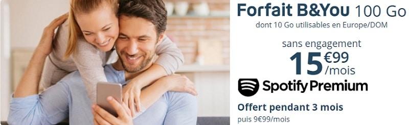 forfait bouygues 100go sans engagement en promo