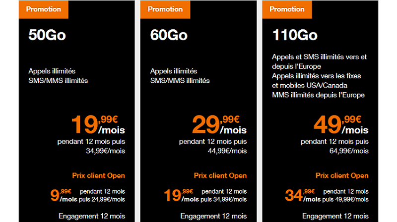 promo forfait mobile orange