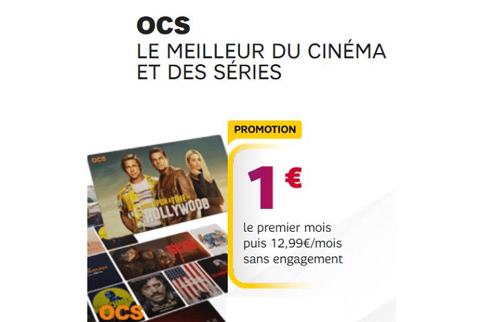 OCS SFR : Comment profiter de l'abonnement en promo à 1€ / mois