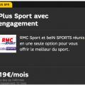 plus sport sfr : abonnement rmc et bein sport à 19 euros
