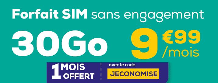 code promo laposte mobile forfait 30go