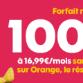 forfait sosh 100 go série limitée 16.99 € / mois