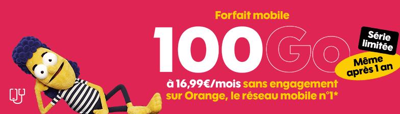 forfait 100 go sans engagement série limitée 16.99 € / mois chez sosh