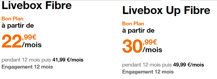 Promotions fibre orange