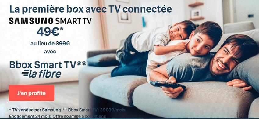 prix en promo de l'offre bbox smart tv