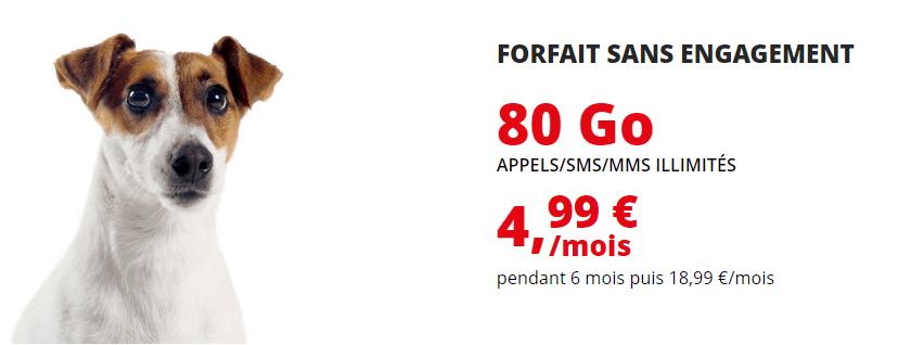 forfait credit mutuel 80 go en promo à 4.99 € / mois