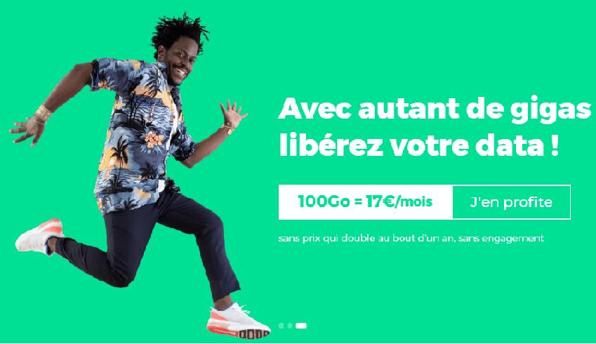 Forfait 100 Go en promo chez red by sfr