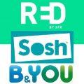 sosh ou b&you ou red by sfr ; promos sur abonnements