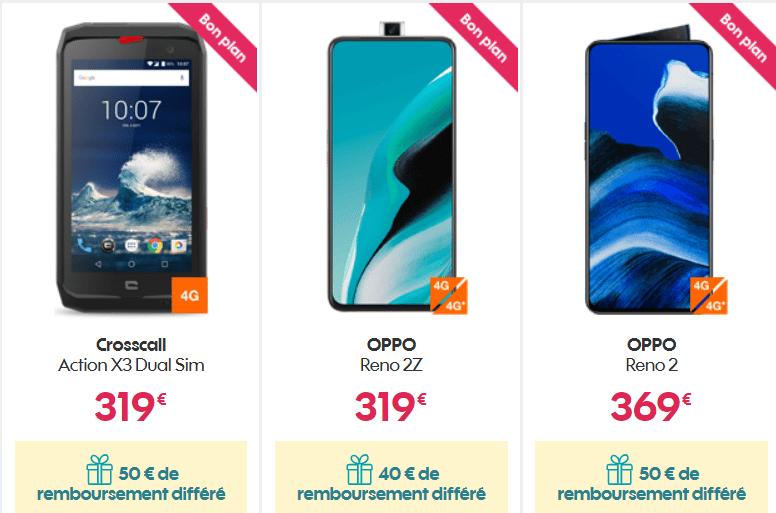 smartphones en promo sur la boutique de sosh