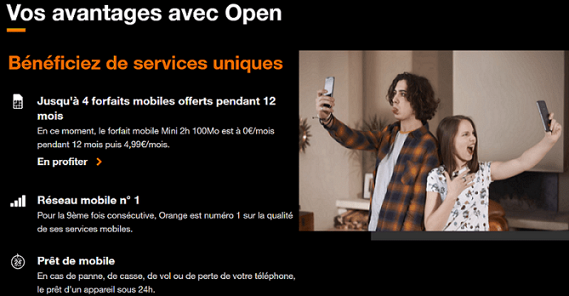 promotions orange fibre : offres mobiles + livebox