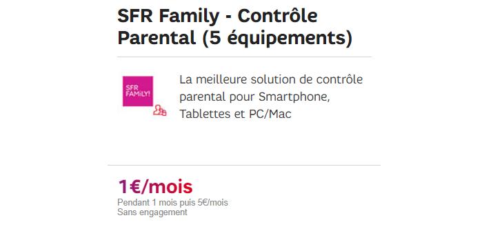 sfr family en promo à 1 euro