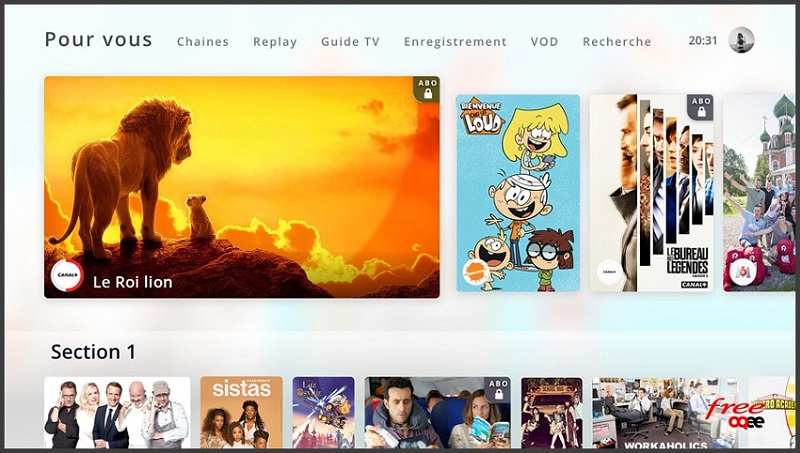 avis freebox pop : le catalogue tv en question
